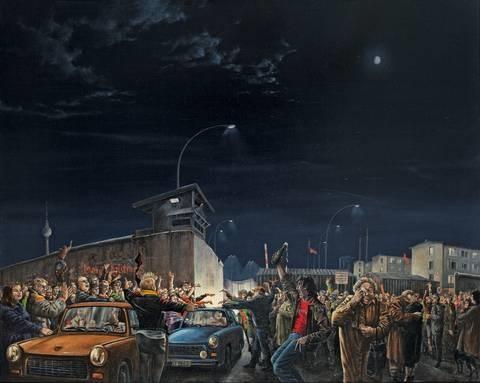 ex oriente lux die nacht vom 9 november 1989 am grenzübergang prinzenstrasse by matthias koeppel