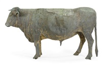 life-size figure of a steer (for the swift meat packing company) by w.h. mullins