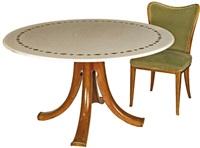 tavolo (+ sedie; set of 7) by arredamenti borsani (co.)