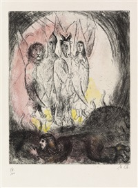 la vision d'ezechiel (from bible) by marc chagall