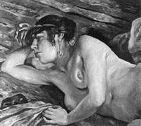 liegender weiblicher akt by charles auguste humbert