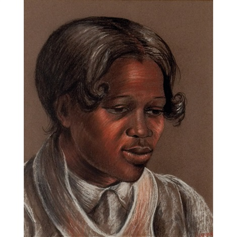 laura portrait of a black woman by bernice lee burr singer
