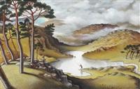 fishing the lochan by jonathan wade