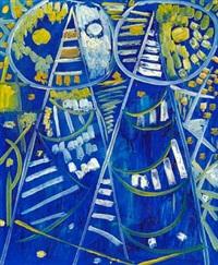 blue masks by egill jacobsen