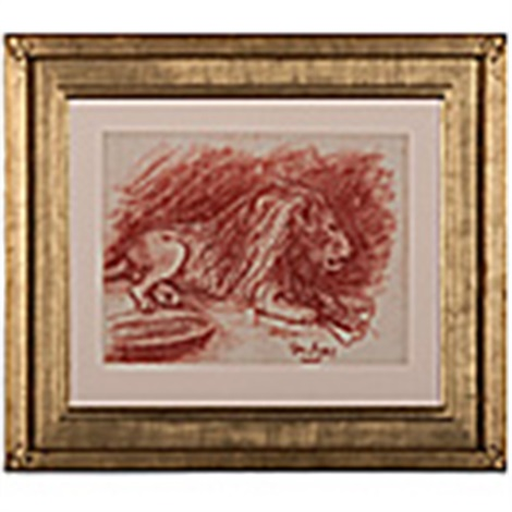study of lion by george benjamin luks