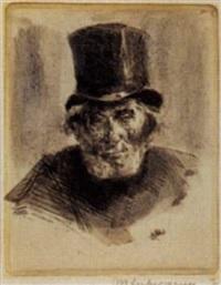 porträt eines alten juden by brusenbauch-slevogt liebermann