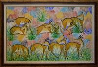 paysage avec antilopes by mulongoy pili pili