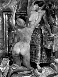 nus dans l'atelier by charles auguste humbert