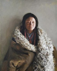 藏女 (tibet women) by xu weixin