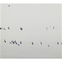 untitled (skiers) (diptych) by walter niedermayr