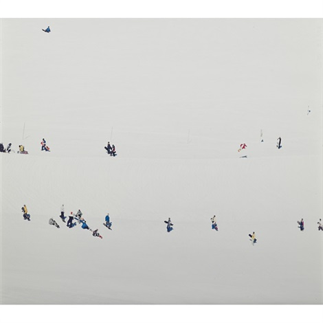 untitled skiers diptych by walter niedermayr