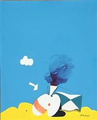 blue composition by per arnoldi