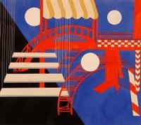 theatre design - décor for pantomime espagnol by alexandra exter