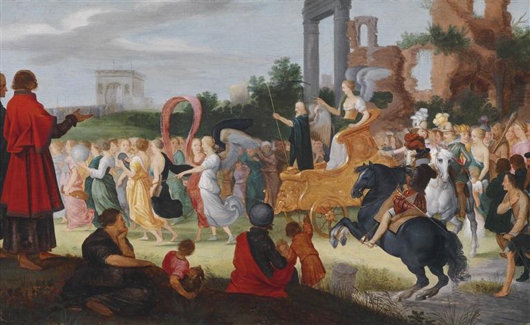 allegorie auf den triumphalen einzug erzherzog ferdinands iii in antwerpen by louis de caullery