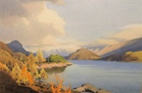 the lake district in autumn by william heaton cooper