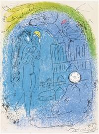 mère et enfant devant notre-dame by marc chagall