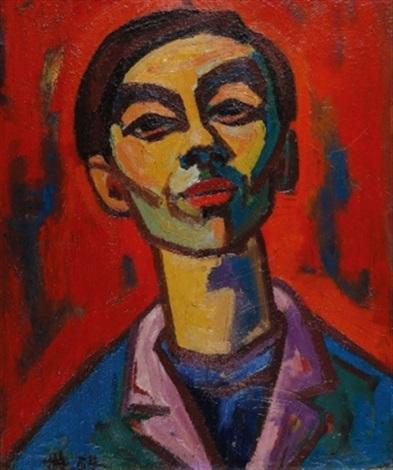 porträt eines jungen mannes by herbert helmert