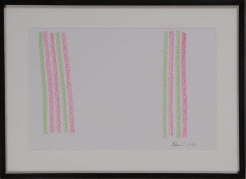 untitled (pink and green) by gene davis