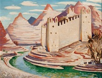 middle eastern castle by norman lloyd