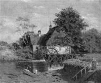alte wassermühle am fluss by rudolf huthsteiner
