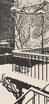 balkon im winter by anton albers the younger