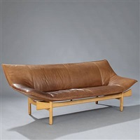 sculptural shaped sofa (model l-84) by o&m design (erik marquardsen and takashi okamura)