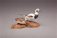 miniature old squaw pair by allen j. king