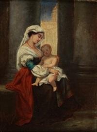 mujer con niño by joaquín agrasot y juan