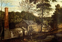 magargee paper mill on the wissahickon by william e. winner