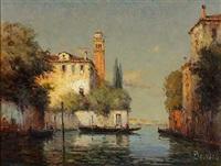 kanal in venedig by noel georges bouvard