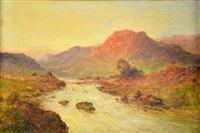 sunset on the river don by alfred de breanski sr