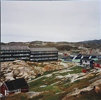 inuit-panoramas series, a town (4 works) by markus bühler-rasom