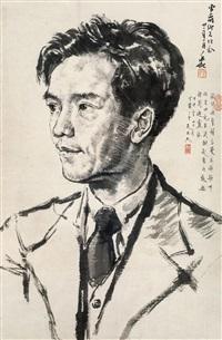 人物肖像 镜心 纸本 by jiang zhaohe