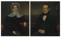 portrait of enos (+ sarah ann dickinson adams, 2 works) by erastus salisbury field