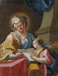 anna lehrt maria das lesen (+ maria und der hohepriester zacharias; pair) by franz joseph spiegler