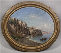 neapolitan bay view (+ another; pair) by achille solari