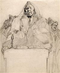 jew praying by saul raskin