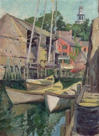 north shore harbor view, massachusetts by james goodwin mcmanus