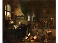 im studierzimmer des gelehrten by egbert van heemskerck