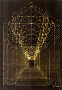 echo chamber from man's life: an echo (study) by agnes denes