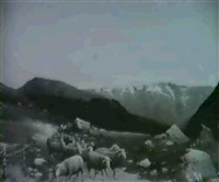 norwegische landschaft mit schafherde by robert kluth