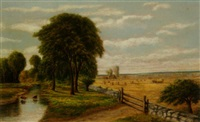 farm scene (minnesota or wisconsin?) by robert s. merrill