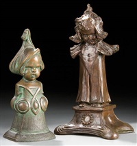 a bell boy (+ a young girl; pair) by henry linder