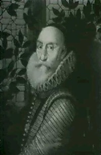 portrait of charles, lord howard of effingham,       earl of nottingham by george harcourt sephton