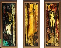 triptych with females (triptych) by madureira vasconcellos