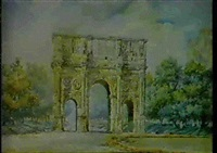 the arch of constantine, rome by tosatto