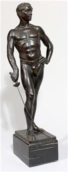 fechter (männlicher halbakt) by rudolf kaesbach