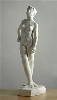 nudo di donna in piedi by emilio ambron