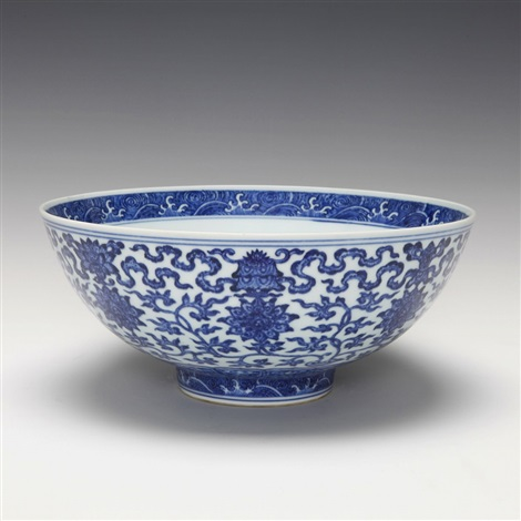 unknownbrblue and white lotus bowl