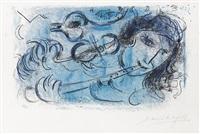 le joueur de flute by marc chagall
